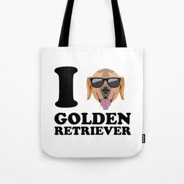 I Love Golden Retriever modern v1 Tote Bag