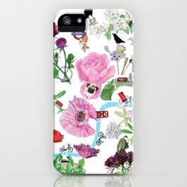 London in Bloom - Flowers and transportation that make London iPhone Case