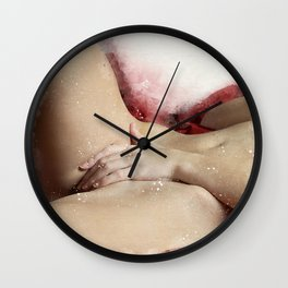 Lying On The Bed Wall Clock