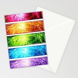 Rainbow Nebula Pixels Panel Art Stationery Cards