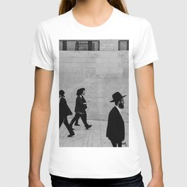 Men walking to The Western Wall in the Old City, Jerusalem, Israel | Holy-place, religious jewish men talking | Travel photography  T-shirt