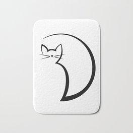 Minimal Cat Bath Mat