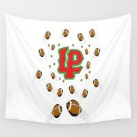 peru Wall Tapestries featuring LaSalle Peru High School Football by Ric Soens