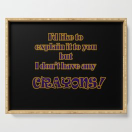 Funny One-Line Crayon Joke Serving Tray