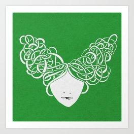 Iconia Girls - Isabella April Art Print