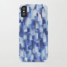 Rainy Crowd iPhone X Slim Case