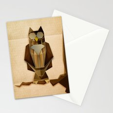 Owl riffic paper cutout vector jazz Stationery Cards