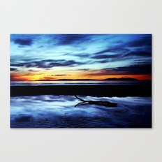 Reflections On Troon Beach Canvas Print