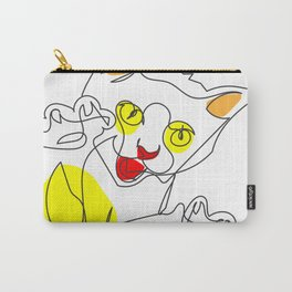 Pouncing Kitten Carry-All Pouch