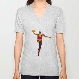 NBA Players | Lebron Dunk Unisex V-Neck