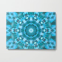 Blue mandala of the stones Metal Print