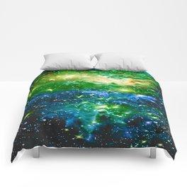 Fox Fur Nebula Teal Green Comforters