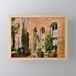 Fells Point Summertime, Baltimore, Maryland, Cityscape, Historic Row Houses  Framed Mini Art Print