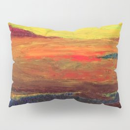 The Inland Marshes (A Seaside Sunset) landscape painting by Emil Nolde Pillow Sham