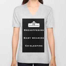 Breastfeeding, baby wearing and co-sleeping Unisex V-Neck