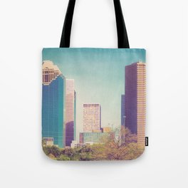 Downtown Houston Panorama Tote Bag