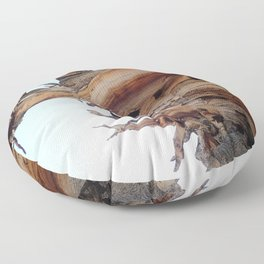 Trees twisting in the wind Floor Pillow