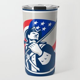 American Patriot Ice Hockey Shield Travel Mug