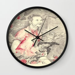 RiFF RAFF with ReD ROSeS Wall Clock