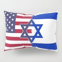 Israel USA flag Pillow Sham