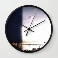return Wall Clocks featuring return stroke by Gray