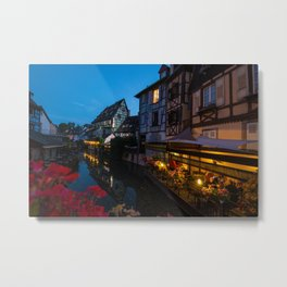 Dinner on the Lauch River - Colmar, France Metal Print