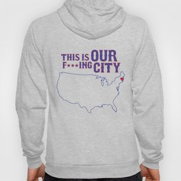 Boston Strong - This is our f***ing city - USA on light Hoody
