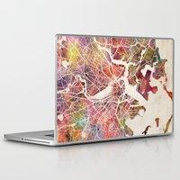 boston Laptop & iPad Skins featuring Boston by MapMapMaps.Watercolors