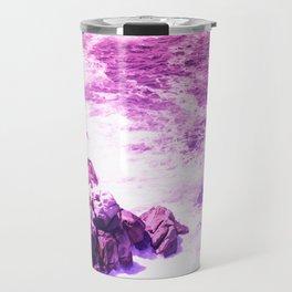 Beautiful Purple Oceanside Cliffs Travel Mug