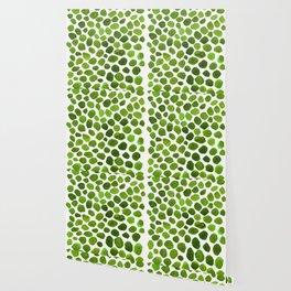 Emerald Green Stones Watercolor Minimalism Painting Wallpaper