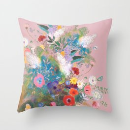 Mixed bouquet of flowers Throw Pillow