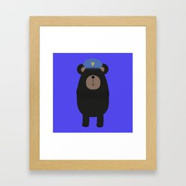 Grizzly Police Framed Art Print