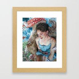 Alice in Wonderland, Portrait of Alice Framed Art Print