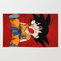 dragonball Area & Throw Rugs featuring Sweet Dreams by TxzDesign