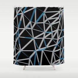 3D Futuristic GEO Lines III Shower Curtain