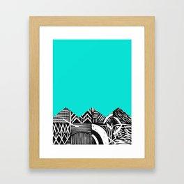 Sky lino bright Framed Art Print