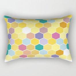 Honey Comb turns Zesty Rectangular Pillow