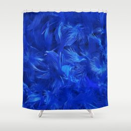 Blue Feathers Shower Curtain