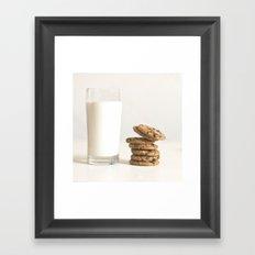 milk and cookies Framed Art Print