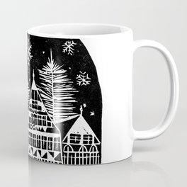 Linocut Holidays Coffee Mug