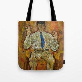 Egon Schiele - Portrait of Paris von Gütersloh, 1918 Tote Bag