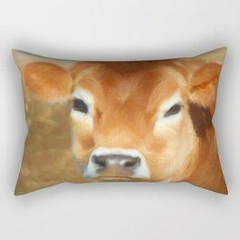 Adorable Cow Face Rectangular Pillow
