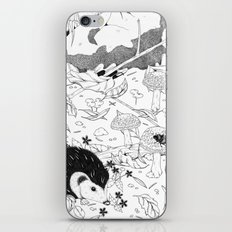 Woodland critters (uncoloured) iPhone & iPod Skin