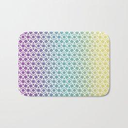 Gravity Tesselation Rainbow Bath Mat