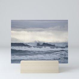 BROODY PACIFIC OCEAN Mini Art Print
