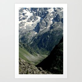 Hiking in the french Alps Art Print