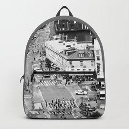 Street people in New York Backpack