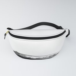 Black and Gold grunge stripes on clear white background - Stripe - Striped Fanny Pack