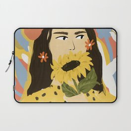Sunflowers In Your Face Laptop Sleeve
