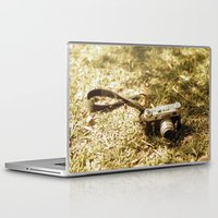 vintage camera Laptop & iPad Skins featuring camera by inesmarinho